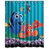 "Turtle and Fish Finding Nemo Special Printed Bathroom Shower Curtain Waterproof Polyester Fabric Bath Curtains 60""(W) x 72""(H)"