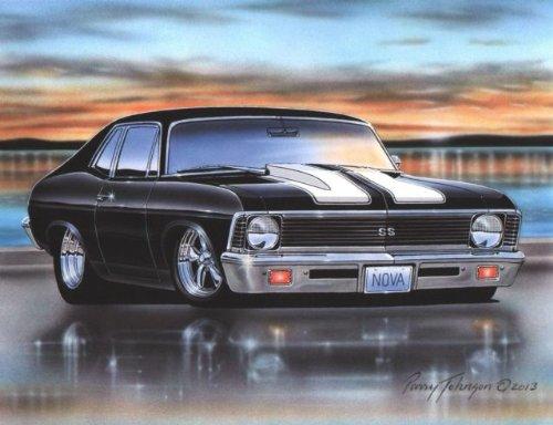 1963 Ford Galaxie 500 Sports Hardtop Muscle Car Art Print