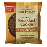 Erin Baker's Breakfast Cookie Mocha Cappuccino, 3-Ounce Individually Wrapped Cookies (Pack of 12)