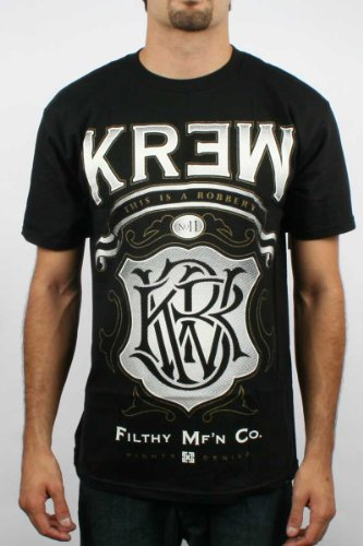 Kr3w - Mens Robbery T-Shirt in Black