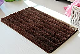 Sytian® New Arrival Thicken Version Plush Shaggy Area Rug Non Slip Absorbent Doormat Floor Mat Bath Mat Bathroom Shower Rug (Coffee,19.68*31.49 Inch)