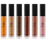 SHANY Cocolicious Lip Gloss Set No.1 Chocolate Shades – Aloe Vera & Vitamin E, 6 Count