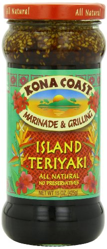 Kona Coast Teriyaki Sauce, Island, 15 Ounce