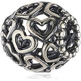 Pandora Damen-Charm Herzen Sterlingsilber 790964
