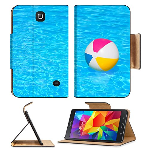 MSD Premium Samsung Galaxy Tab 4 7.0 Inch Flip Pu Leather Wallet Case IMAGE ID 30943046 Inflatable colorful ball floating in the swimming pool