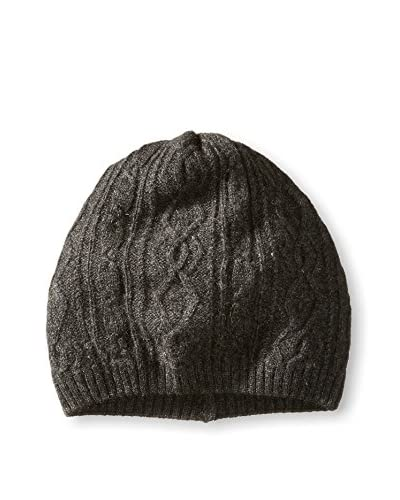Thirty Five Kent Men's Cashmere Diamond Cable Hat, Charcoal