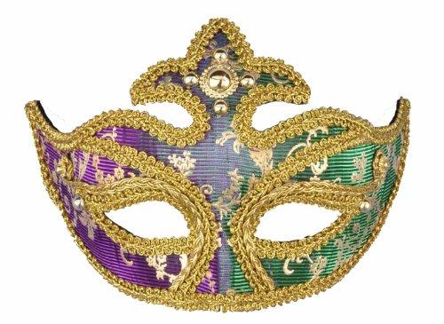 Forum Magic Color Mardi Gras Half Mask - 1