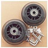 高品質 外輪径 76mm 内輪径 6mm 幅 22mm 車軸 30mm / 2輪 608 深溝玉軸受 スーツケース サービス 用交換ホイール 静音効果とオシャレ度アップ 故障時の修理交換も キャスター車輪部品 パーツ 工具付属 龜旅