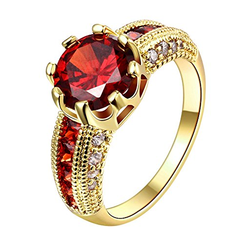 YELLOW-CHIMES-Dazzling-Imperial-Red-Austrian-Crystal-Gold-Plated-Ring-for-Women-and-Girls