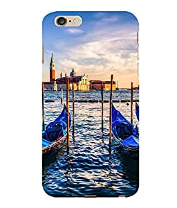 printtech Italy River Boats Gondola Back Case Cover for Apple iPhone 6S Plus