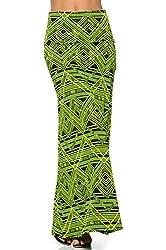 Maxi Skirt, Multi Print Long Skirt