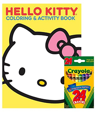 Hello Kitty Coloring Pages With Crayons : Hello kitty coloring and activity book with pages