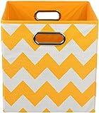 Modern Littles Folding Storage Bin, Bold Orange Chevron