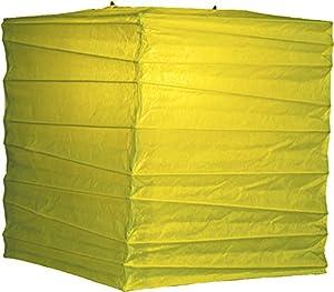 Luna Bazaar Chartreuse Green 10 Inch Square Premium Paper Lantern