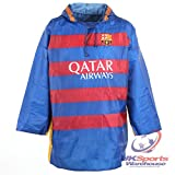 Barcelona FC Rain Mac Waterproof Poncho & Carry Bag Gift Boxed Official rrp£25