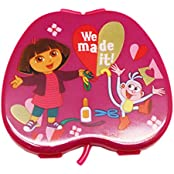 Dora The Explorer Apple Shaped Clamshell Design Mini Mirror/Comb Combo