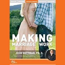 Making Marriage Work Discours Auteur(s) : Dr. John Gottman Narrateur(s) : Dr. John Gottman