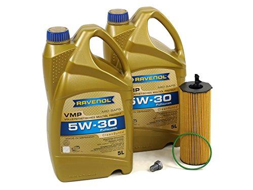 BLAU J1A5008-B VW Touareg Motor Oil Change Kit - 2009-12 w/ 6 Cylinder 3.0L TDI Diesel Engine