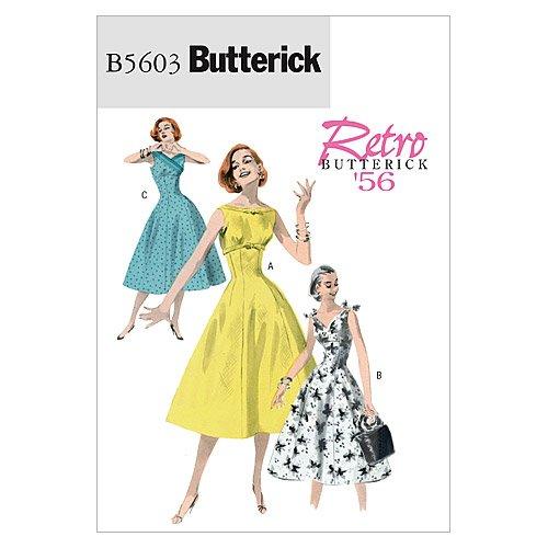 1950s Sewing Patterns- Dresses, Skirts, Tops, Pants Retro Misses Dress Size EE (14-16-18-20) $10.85 AT vintagedancer.com