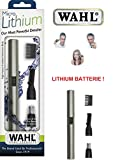 Wahl Nasenhaarschneider incl. Lithium-Ionen Batterie! Edelstahl-Schneidsystem, abwaschbar, Ohrhaarentferner 42507