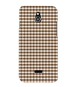 Brown Checks 3D Hard Polycarbonate Designer Back Case Cover for InFocus M2