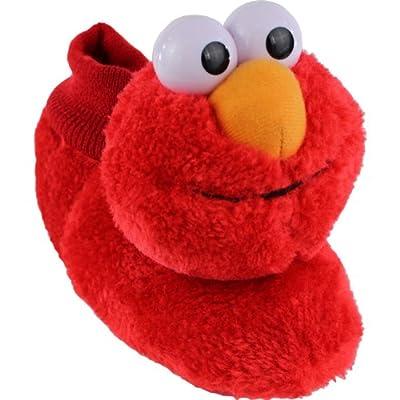 Elmo Cookie Monster Boys Girls Sock Top Slippers (Toddler/Little Kid)