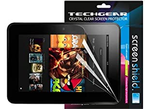 TECHGEAR® **PACK OF 2** CLEAR LCD Screen Protector Guards with Cleaning Cloth For AMAZON KINDLE FIRE HD 8.9 inch (16GB 32GB WIFI)