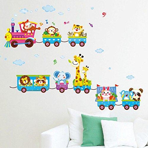 Awardpedia - Girls Animal Decal, Elephant Wall Stickers, Baby Pink Wall Decal
