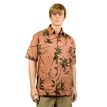 Copper Palm Trees Hawaiiabera Shirt