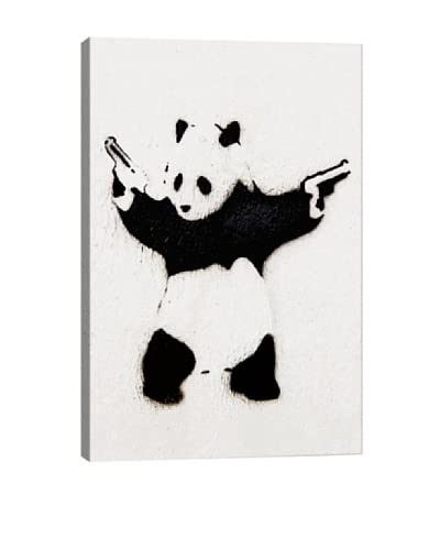 Banksy Panda With Guns Giclée On Canvas