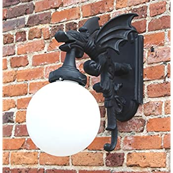 The Kings Bay Gargoyle Dragon Wing Outdoor Wall Light Fixture