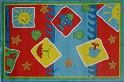 Decorative Kid Rugs-Beach Blanket-Fun Rugs-39\'\'x58\