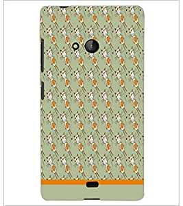 PrintDhaba Pattern D-1605 Back Case Cover for MICROSOFT LUMIA 540 (Multi-Coloured)