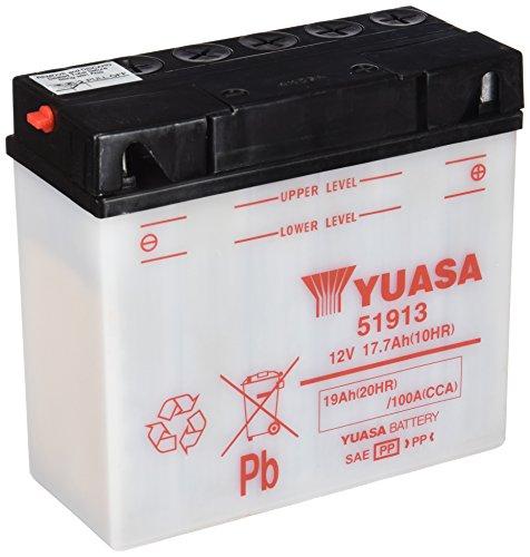 YUASA 51913 Powersports AGM Motorrad Batterie, wartungsfrei (Preis inkl. EUR 7,50 Pfand)
