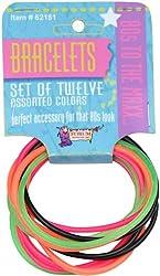 80's Color Rubber Bracelet Set