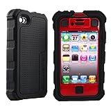 日本初上陸、iPhone4用最強ケース!耐衝撃+防塵+防滴 Verizon iPhone 4 Ballistic Hard Core (HC) Case Red / Black バリスティックケース iPhone 4 ( レッド / ブラック ) 【Ballistic Case日本正規代理店 ノーゼンローズドットコム】