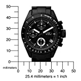 Fossil Men's CH2643 Black Silicone Strap Black Analog Dial Chronograph Watch