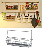 Ikea Steel Wire Basket Spice Rack Hang or Free Standing Kitchen Storage Holder Bygel