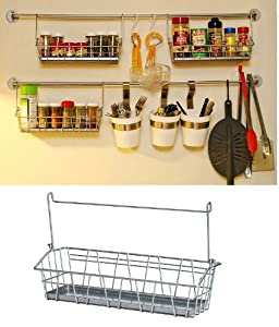 Ikea Steel Wire Basket Spice Rack Hang or Free Standing Kitchen Storage Holder Bygel by IKEA