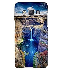 ColourCraft Beautiful Waterfall Design Back Case Cover for SAMSUNG GALAXY A7