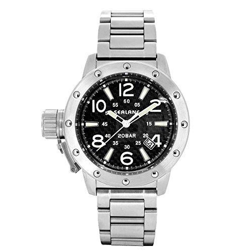 [シーレーン]SEALANE 腕時計 SE54 シリーズ ( ブラック 自動巻き ) メタルベルト ウォッチ SE54-MBK 国内正規品