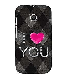 EPICCASE love blocks Mobile Back Case Cover For Moto E (Designer Case)