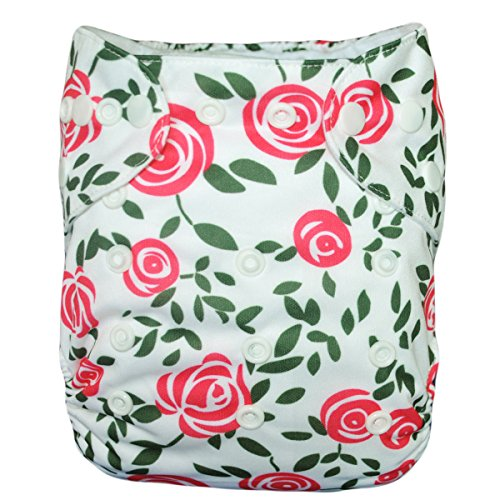 Besto Baby Reusable Washable Aio Cloth Diapers Fit 6-33Lbs With 1 Free Microfiber Insert 1Ya102 front-1081097