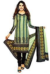 Shree Ganesh Women's Dress Material Multi Colour Cotton Printed Churiddar Suit with Dupatta