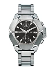 RSW Men's 4400.MS.S0.1.D0 Nazca Stainless-Steel Diamond Black Automatic Chronograph Watch