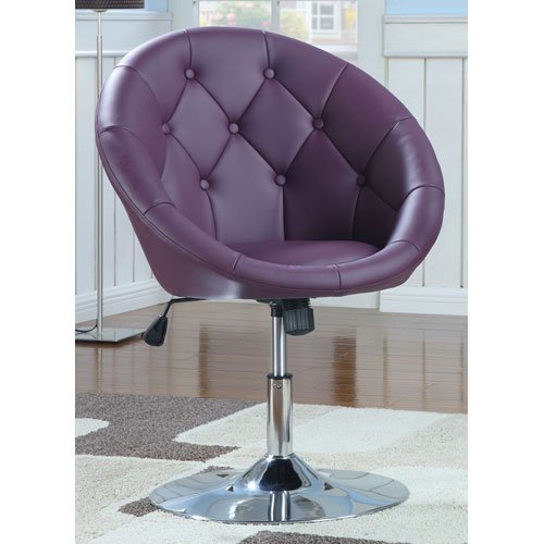 Purple coaster swivel chair with chrome finish purple - Purple chairs for bedroom ...