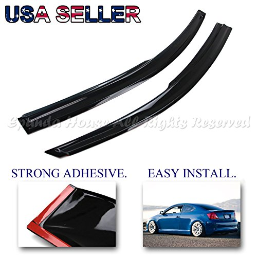 For 04-07 Scion Tc USA Window Vent Wind Deflector Rain Guard Dark Tinted Smoked Side Visors (Scion Tc Vent Visor compare prices)