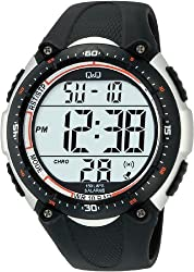 Q&Q Standard Dual Time Digital White Dial Mens Watch M010-002