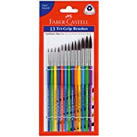Faber-Castell Tri-Grip Brush - Round, Pack of 13 (Assorted)