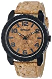 Sprout Mens ST/7009CKCK Black Corn Resin Case Cork Dial and Strap Watch